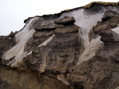 Урочище Буор-Хайа. Ледяные обрывы (повторно-жильный лед)(4)