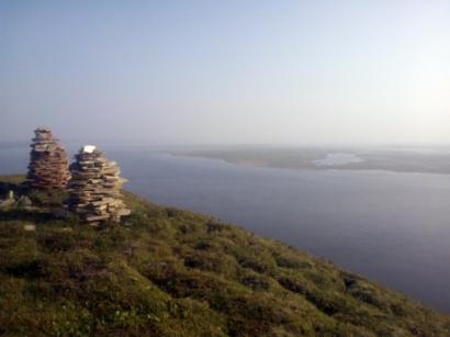Дельта Лены с высоты острова Столб