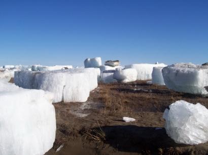 После ледохода на берегу реки Оленек