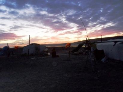Закат на участке Таба Бастаах