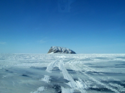 Зимняя дорога на остров Столб