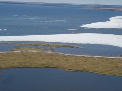 Коса у выхода лагуны Степаненко в залив Неелова