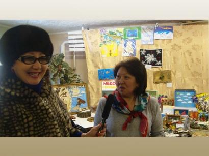 Интервью во время открытия выставки детского творчества