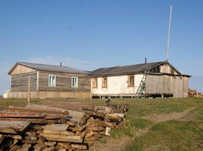 Кордон и Российско-Германская научно-исследовательская станция на острове Самойловский