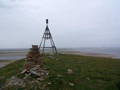 На вершине острова Столб