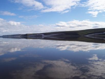 Берега реки Оленек летом
