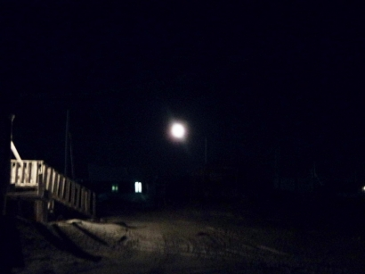 Вечером при луне