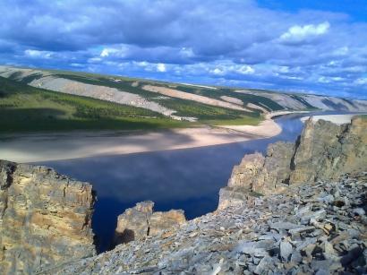 Река Оленек с высоты