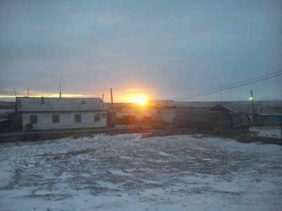 Закат солнца в поселке_1
