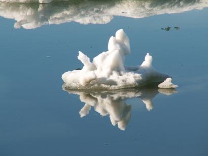Остров Котельный, пролив Заря, коса Западная