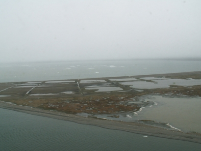 Остров Котельный, вид с воздуха