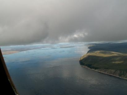 Правый берег Лены к северу от острова Тит-Ары